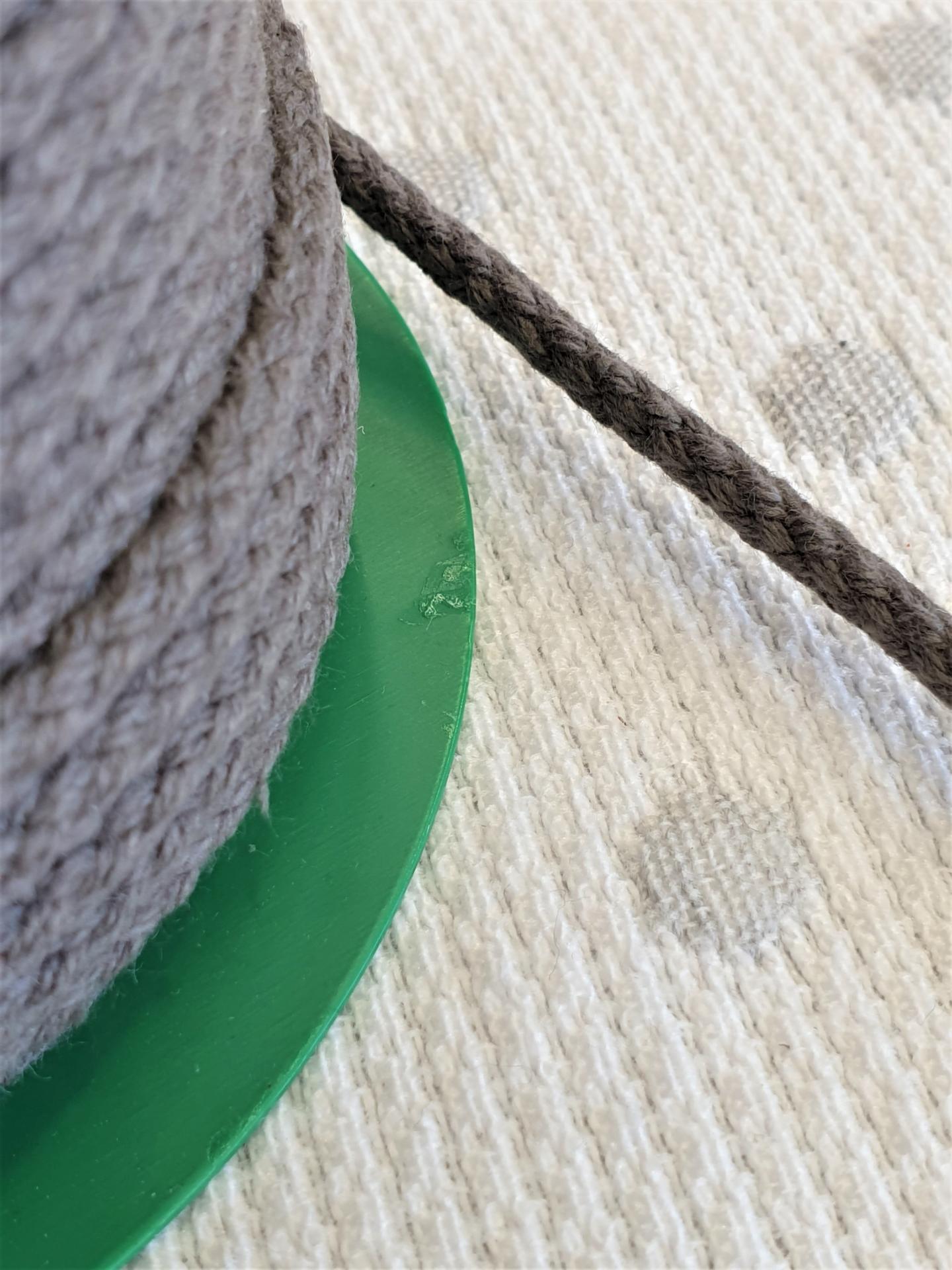 Cordón Algodón 4mm Antracita