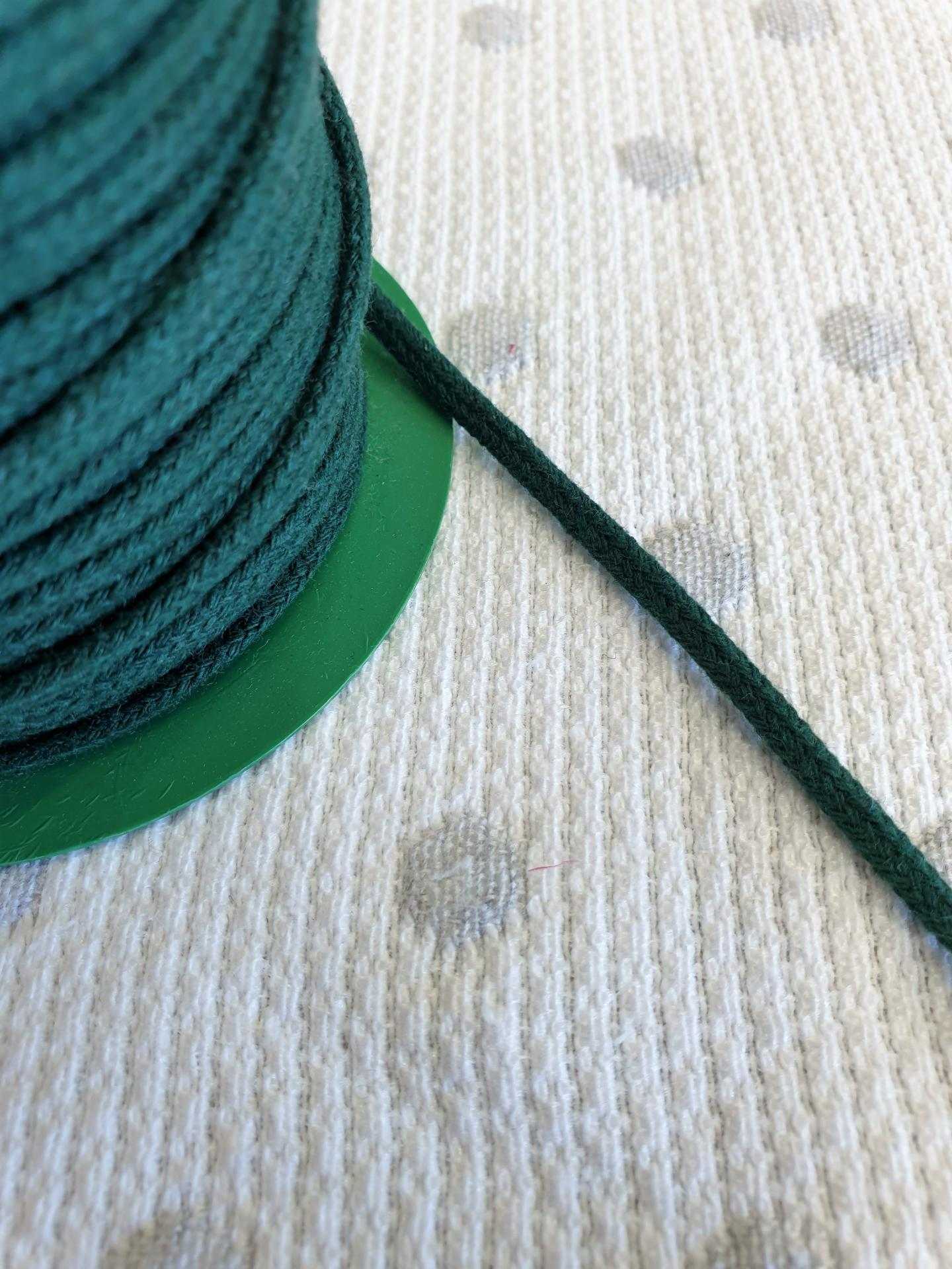 Cordón Algodón semi-plano 3mm Verde Botella