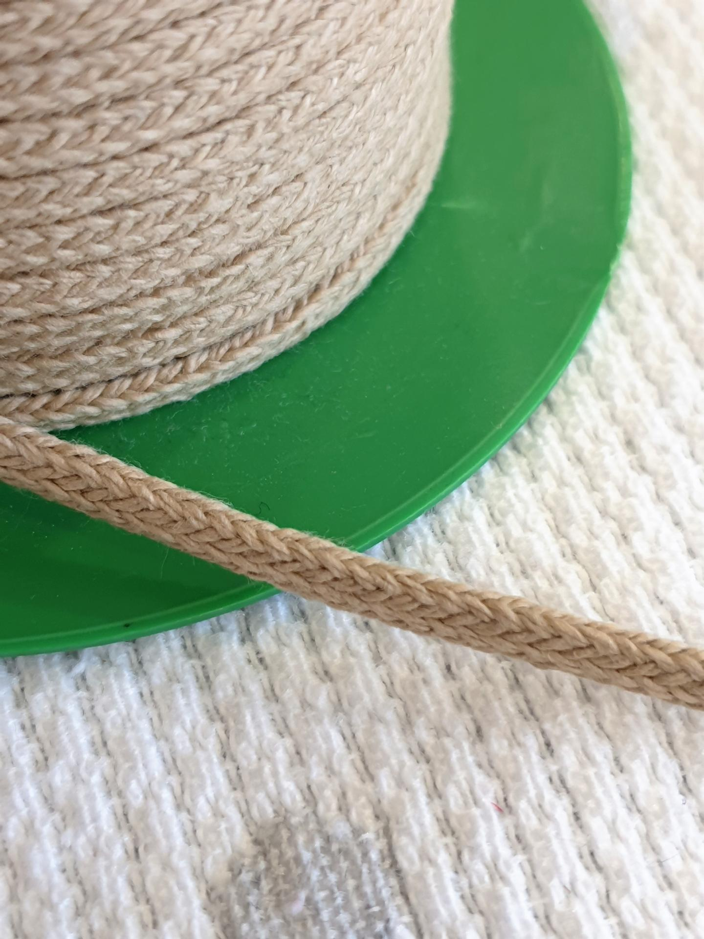 Cordón Algodón semi-plano 3mm Natural