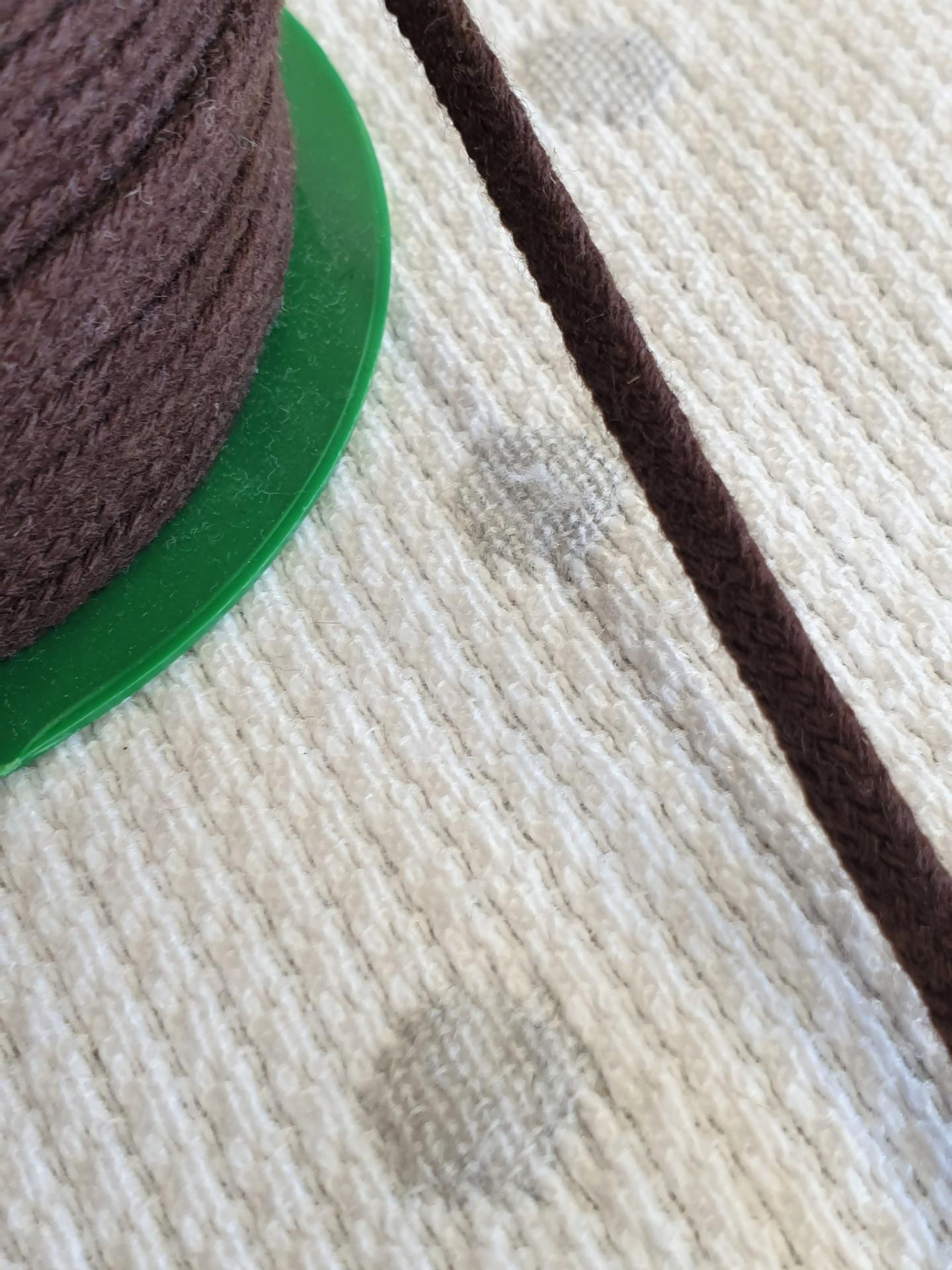 Cordón Algodón semi-plano 3mm Chocolate
