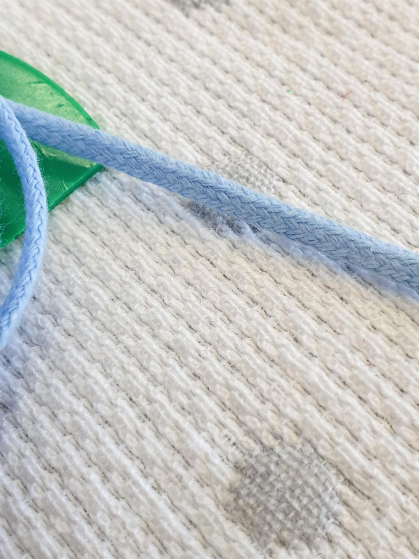 Cordón Algodón semi-plano 3mm Azul Cielo