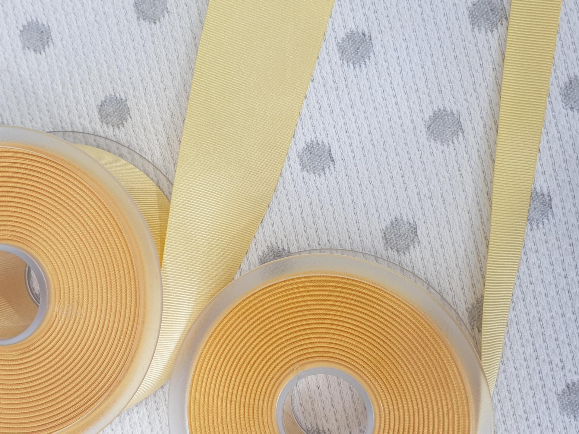 Cinta Falla Gros Grain Silky - Amarilla