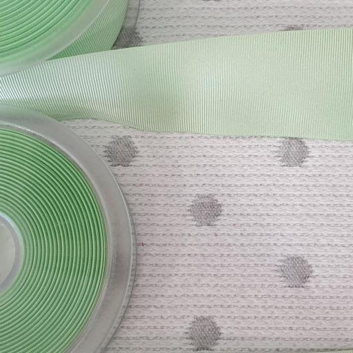 Cinta Falla Gros Grain Silky - Verde Suave