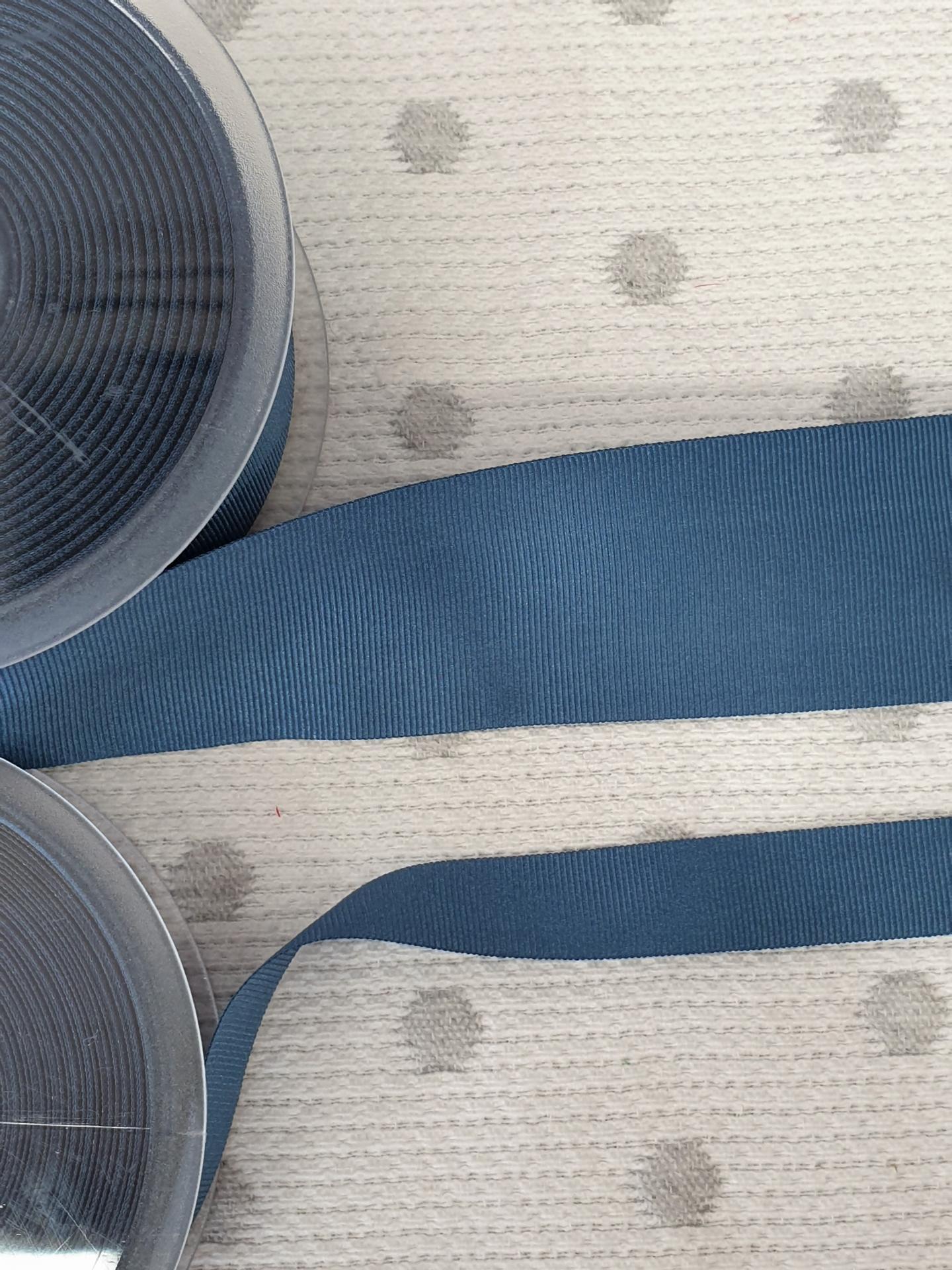 Cinta Falla Gros Grain Silky - Azul Fuerte