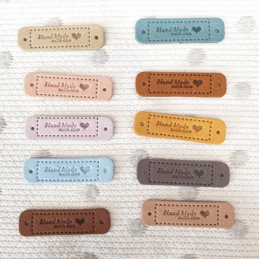 Etiquetas Piel Hand Made - 10 pack