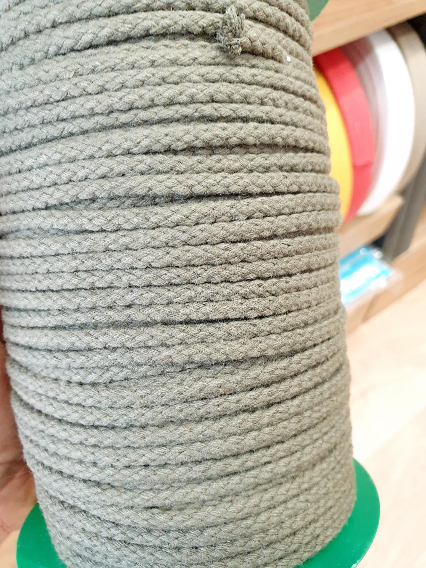 Cordón Algodón 4mm Kakhi