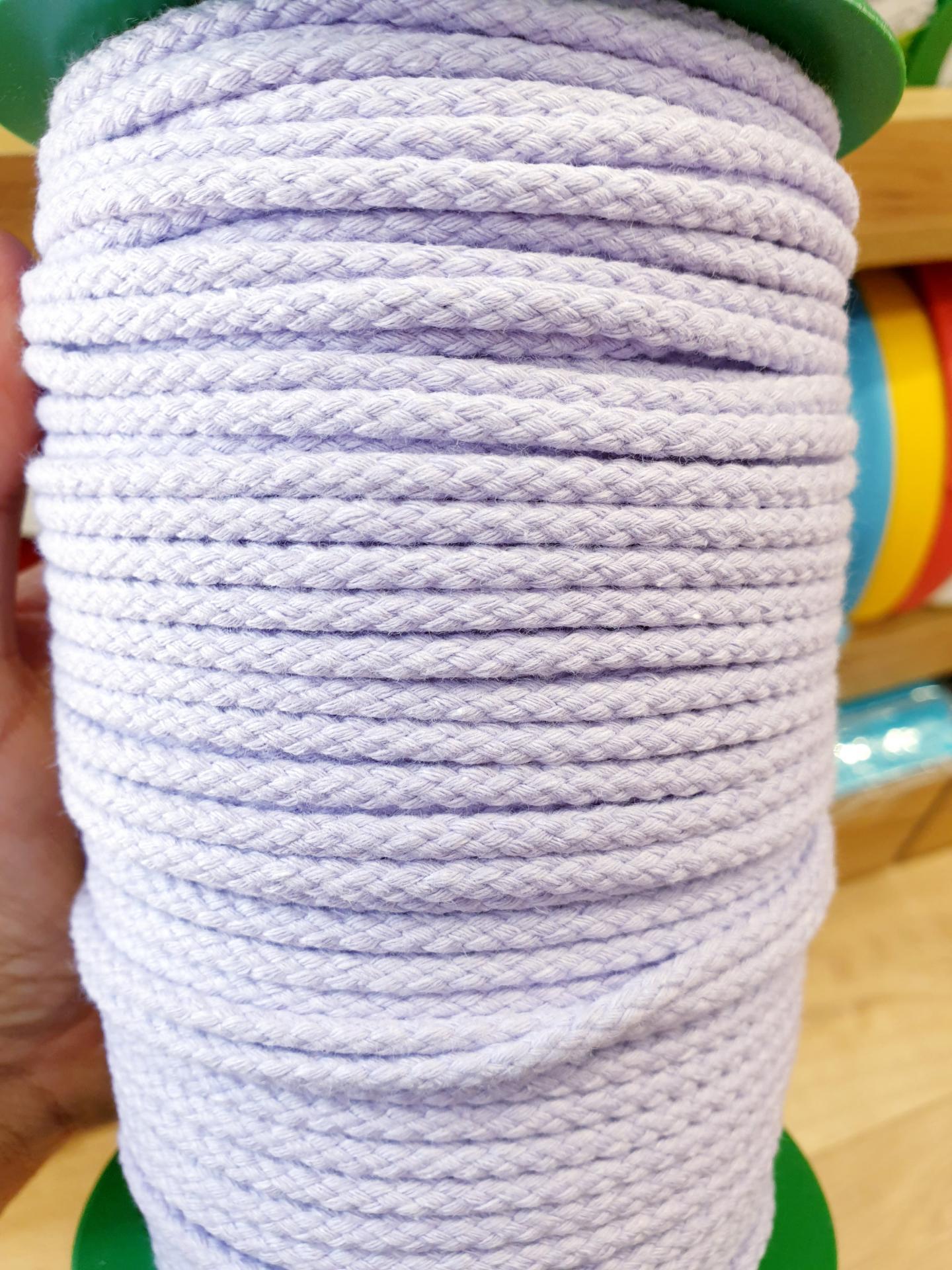 Cordón Algodón 4mm Malva