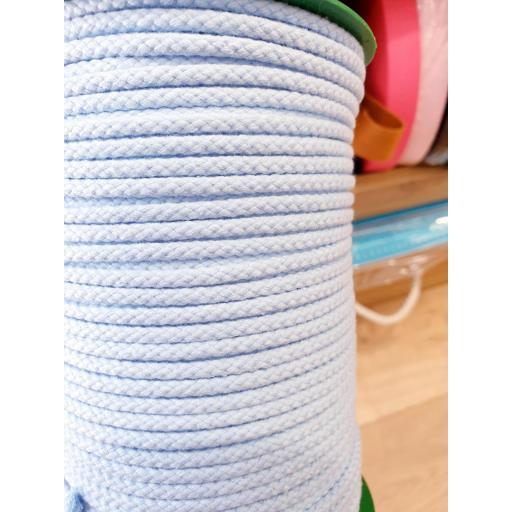 Cordón Algodón 4mm Azul Bebe