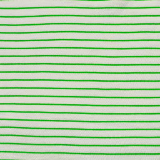 Slub Jersey - Stripes Green Fluor