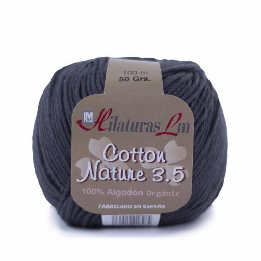 Cotton Nature 3.5 - Ovillo 50gr - Gris Oscuro 4241