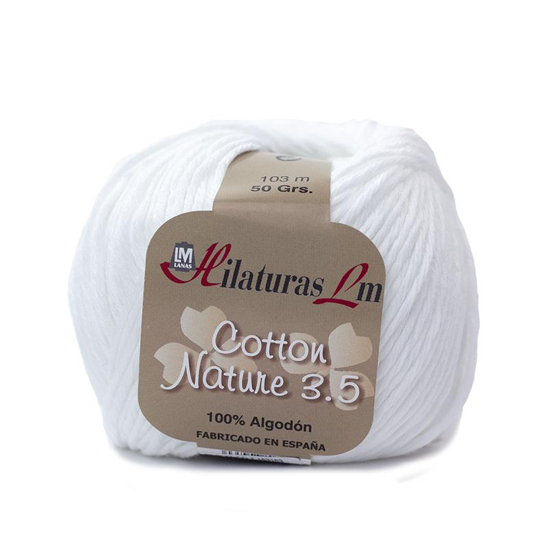 Cotton Nature 3.5 - Ovillo 50gr - Blanco 50