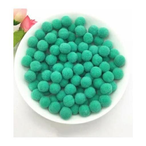 Pompones Felpa 20mm Color Mint