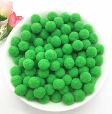 Pompones Felpa 20mm Color Verde