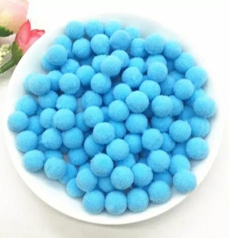 Pompones Felpa 20mm Color Azul Cielo