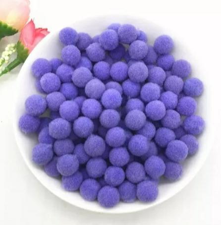 Pompones Felpa 20mm Color Purpura