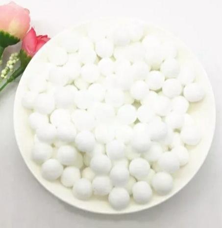Pompones Felpa 20mm Color Blanco
