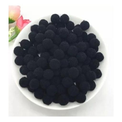 Pompones Felpa 20mm Color Negro [0]