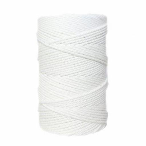 Macrame 2mm Blanco
