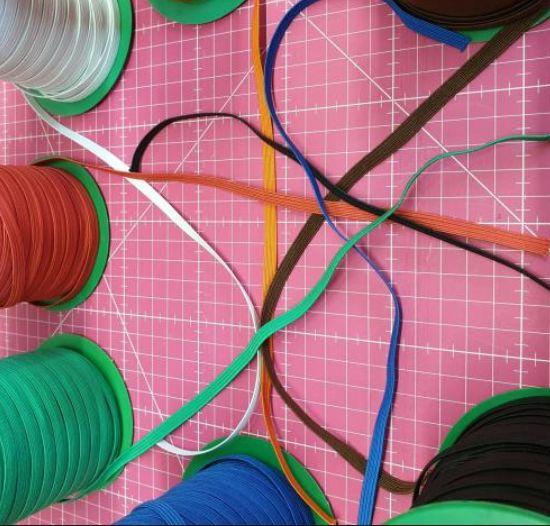 Goma Plana Colores 0,5cm