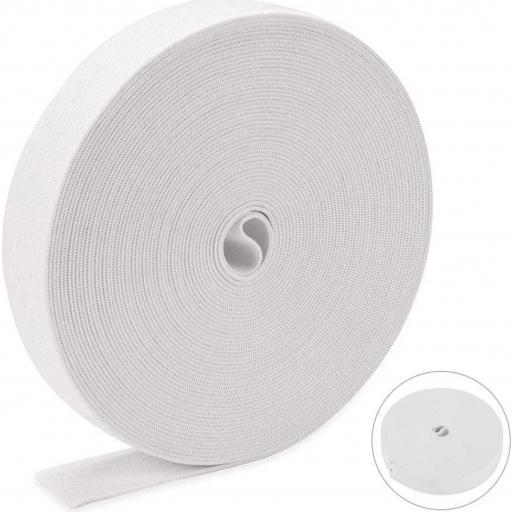 Goma Plana Suave 15mm blanca