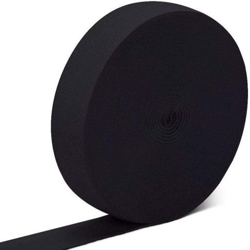 Goma Plana Suave 15mm negra