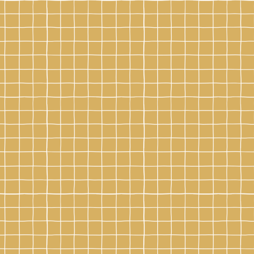 Grid Ochre - French Terry