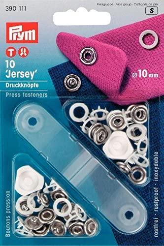 Kit Botones 10mm Blanco Prym para Jersey - Punto