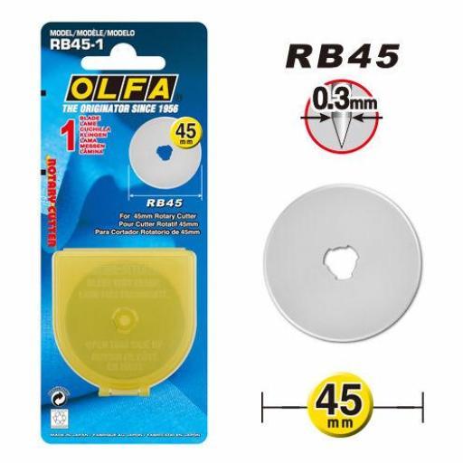 Recambio Cuchilla Rotativa 45mm - OLFA