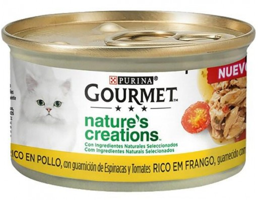 GOURMET NATURE'S CREATIONS Pollo y Pavo  4x85g