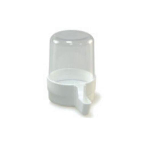 Bebedero para pajaro tubo blanco ancho