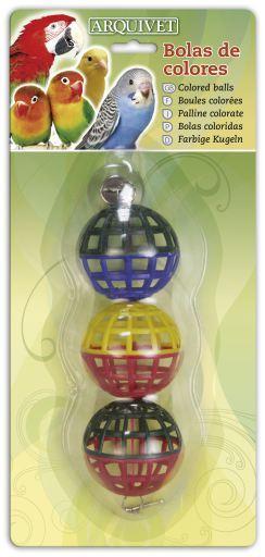 Juguete para pajaro de Bolas de Colores