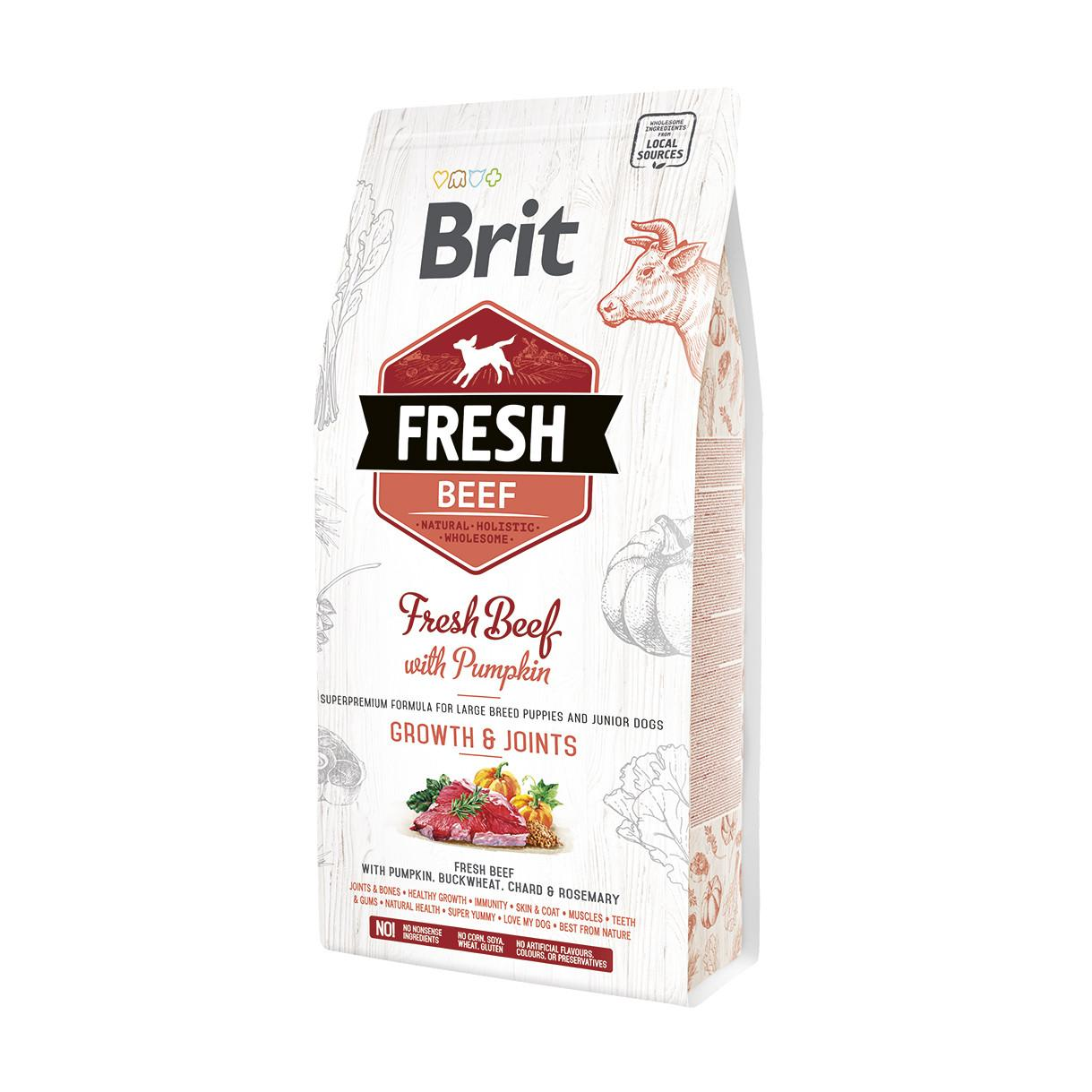 Brit Fresh Ternera y calabaza PUPPY largo