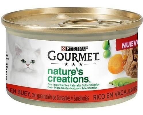 GOURMET NATURE'S CREATIONS Buey 24x85g