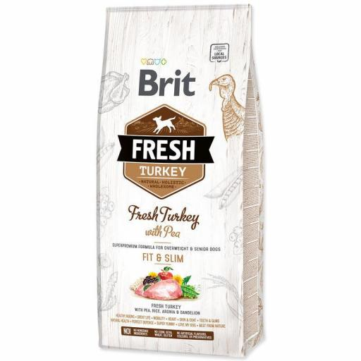 Brit Fresh Pavo con Guisantes LIGHT Fit & Slim