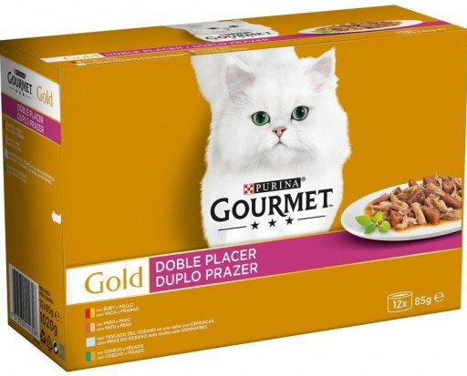 GOURMET GOLD Doble Placer Surtido (12x85g)