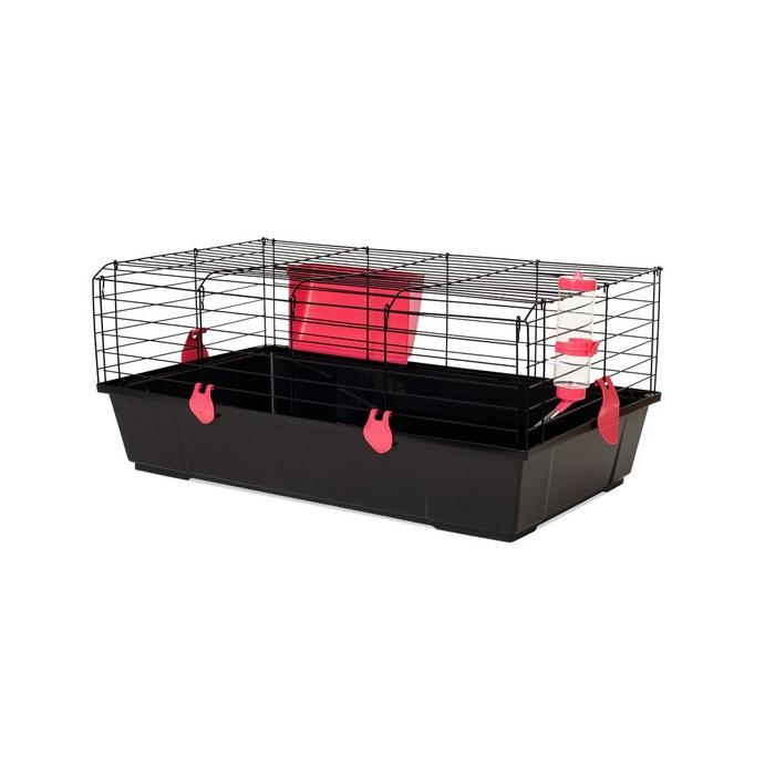 Jaula conejo 520 negra plegable, Voltrega