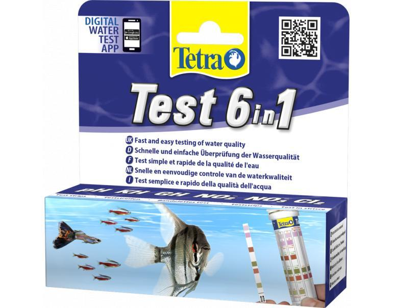 Tetra Test tiras indicador 6 en 1