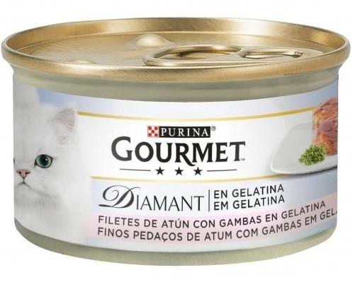 GOURMET DIAMANT Láminas de Atún en Gelatina con Gambas 24x85g