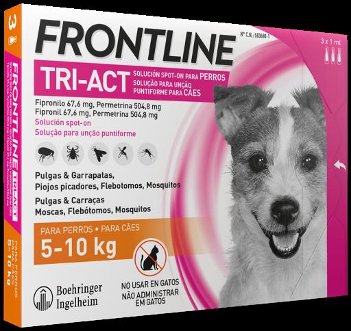 FRONTLINE TRI-ACT PARA PERROS 5-10 KG