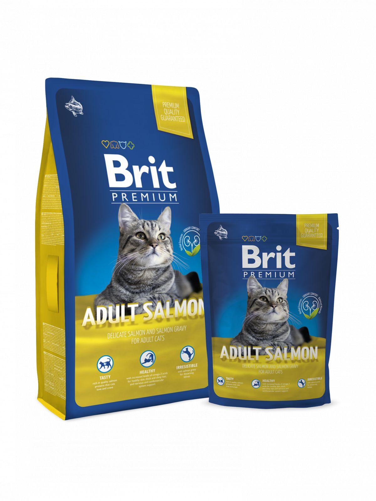 Brit Premium Salmon para gato adulto