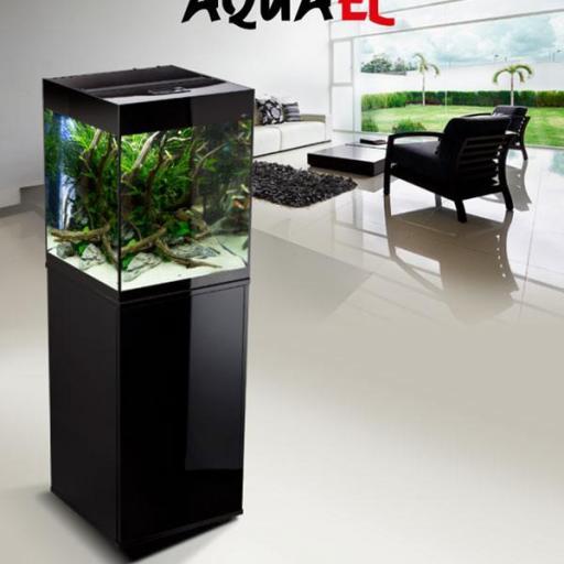 Acuario Aquael Glossy Negro Cube 50 - 135 litros [1]