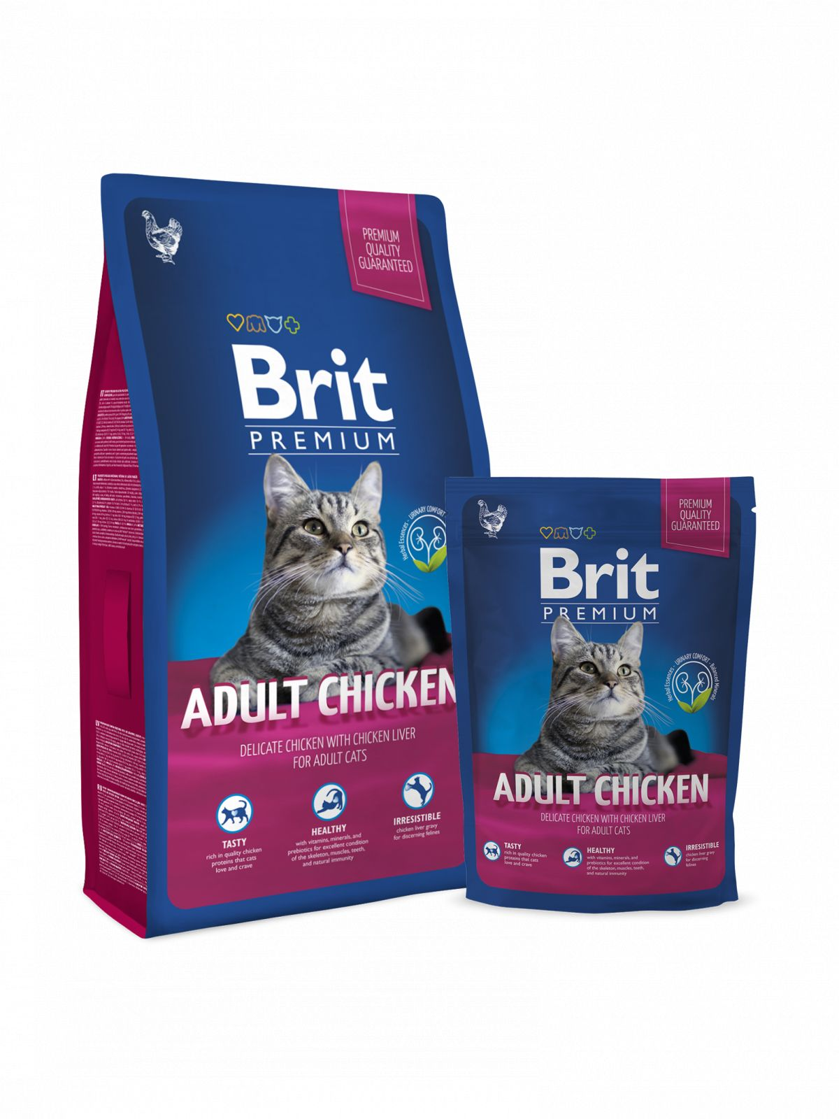 Brit Premium Chicken pienso de pollo gato adulto