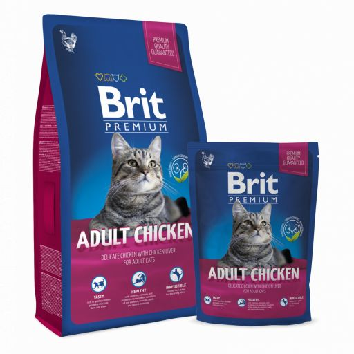 Brit Premium Chicken pienso de pollo gato adulto