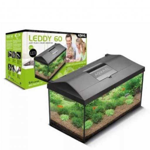 Acuario Completo Aquael Leddy Plus Negro 60 - 54 Litros [1]