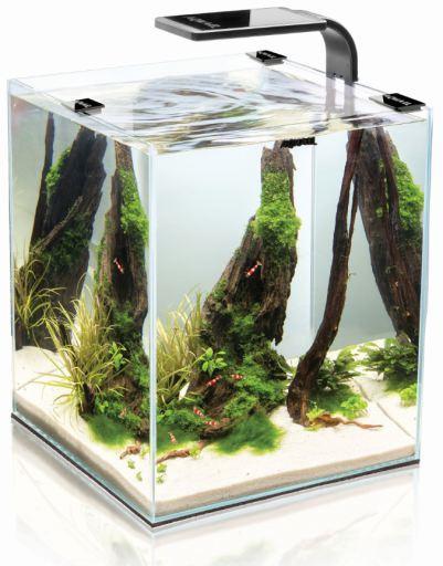 Acuario Completo Aquael Shrimp Negro 10 - 10 Litros