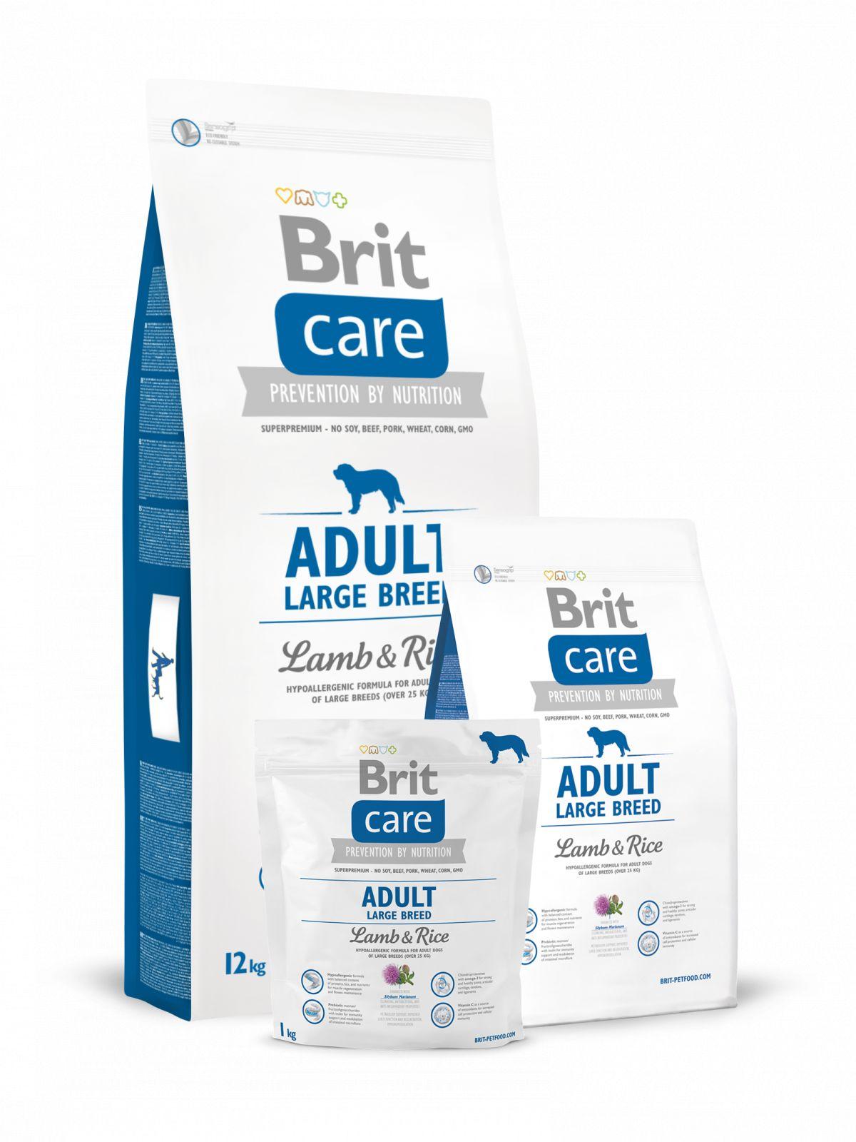 Pienso para perro de cordero y arroz croqueta grande,Brit Care