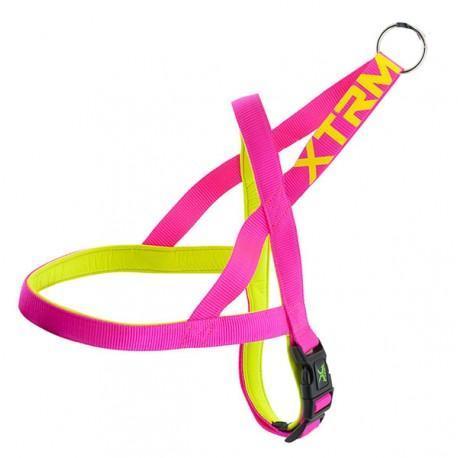 Arnés X-TRM Neon Flash Rosa-Amarillo