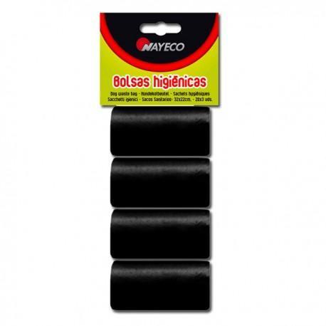Bolsas recambio 4 rollos negros Nayeco
