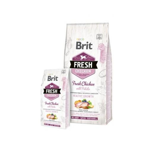 Brit fresh Pollo y patata PUPPY Healthy Growh