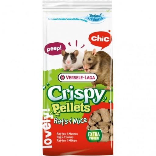 Crispy Pellets Ratas Raton 20kg Versele Laga